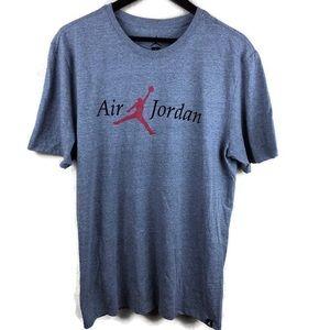 Air Jordan Mens T-shirt, Gray Red Jumpman Large